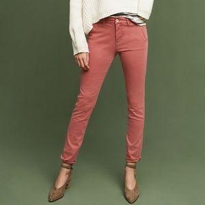 Anthropologie Hei Hei Sateen Skinny Pink Pants 31